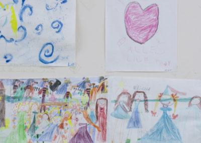 Kinderzeichnungen in der KTK in Liestal